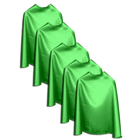 Superfly Kids Super Hero Capes Kids 5 pack Green
