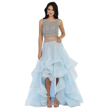 SEXY TWO PIECE HIGH LOW SWEET 16 DRESS