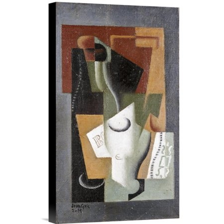 Global Gallery Glass and Bottle by Juan Gris Painting Print on Wrapped Canvas