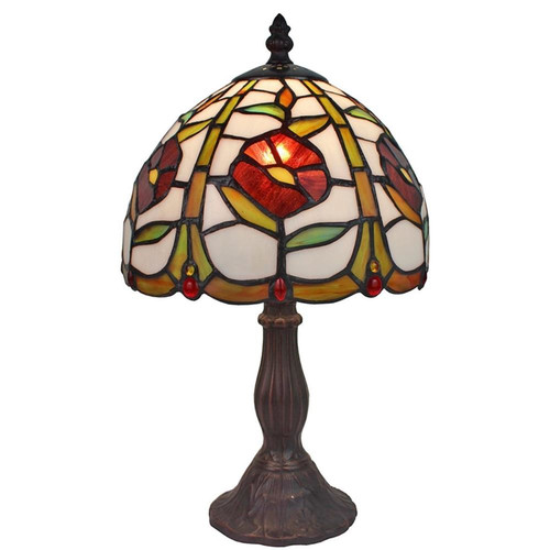 Amora Lighting Tiffany Style AM039TL08 15-inch Floral Mini Table Lamp by Supplier Generic