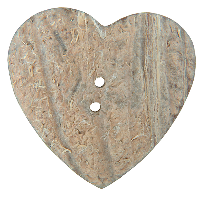 "Handmade Coconut Button - Heart 1 - 1/2"" 1/Pkg"