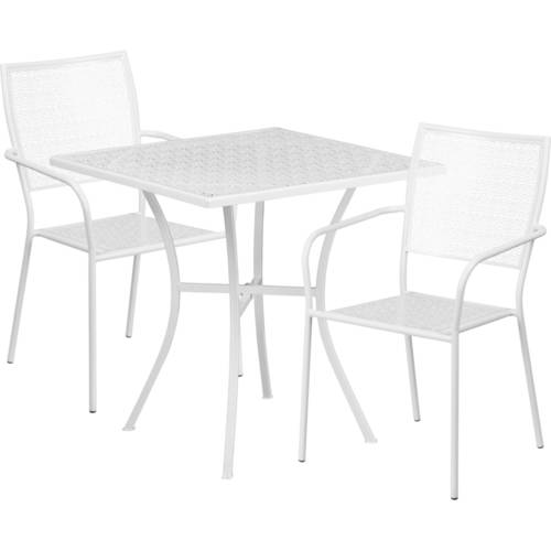 Flash Furniture 30'' Round Indoor-Outdoor Steel Folding Patio Table Set with 4 Round Back Chairs, Multiple Colors by Flash Furniture