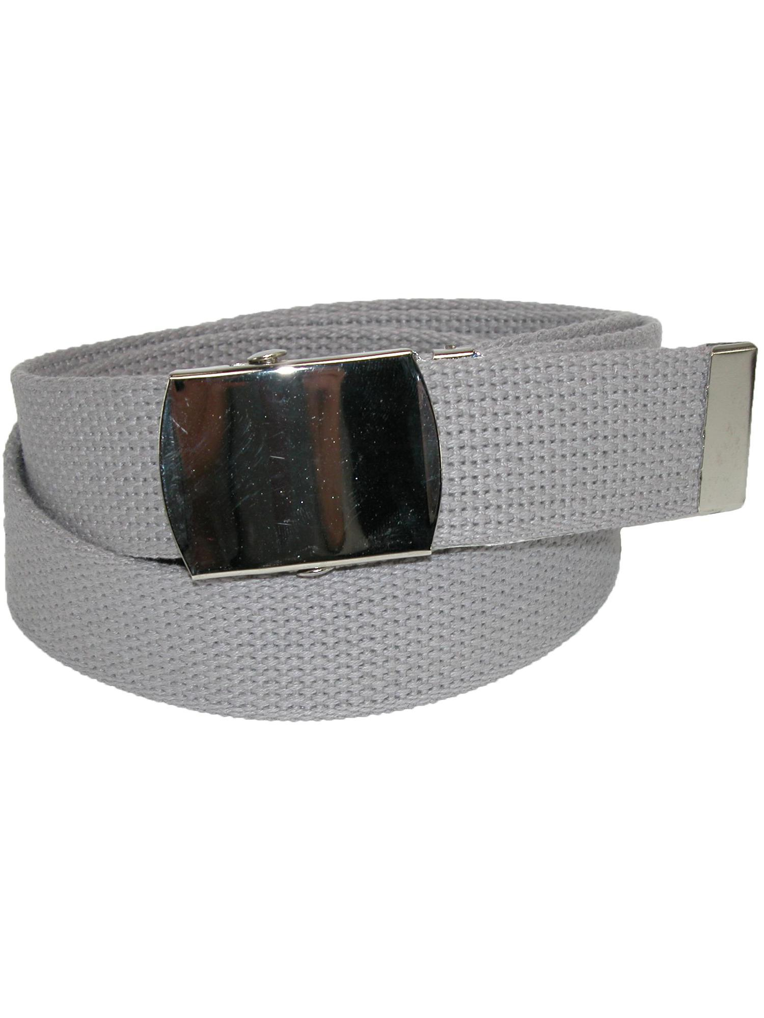 Size one size Cotton Adjustable Belt with Nickel Buckle
