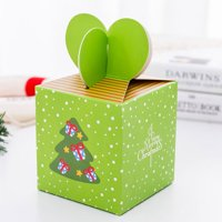 AkoaDa 5 Pieces Boxes Candy Boxes Party Favor  Christmas  Box Xmas Party Bags Gift 6 Cute Styles