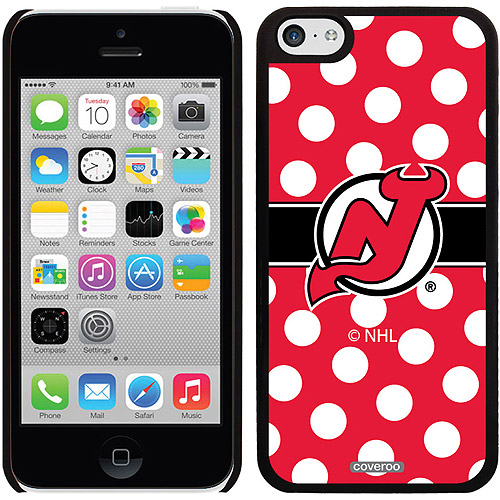 New Jersey Devils Polka Dots Design on iPhone 5c Thinshield Snap-On Case by Coveroo
