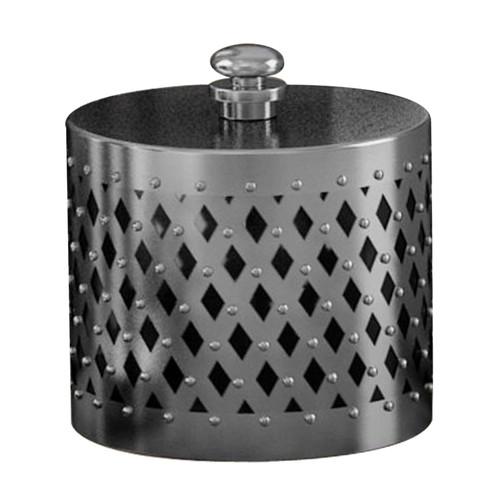NU Steel Platinum Cotton Swab Container
