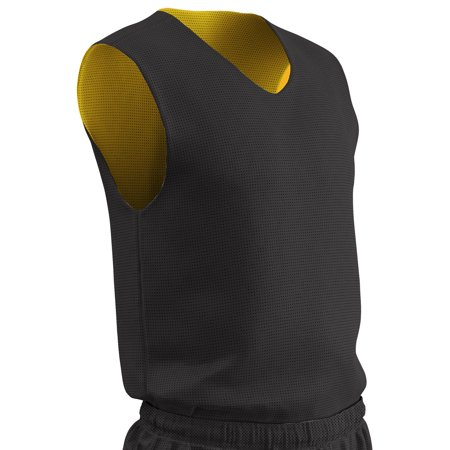 Champro Men's Reversible Basketball Jersey - Black/Gold - (Cotton Reversible Jersey)