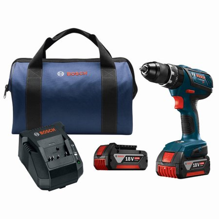 BOSCH HDS181A-01 18V Compact Tough 1/2 In. Hammer Drill/Driver Kit 0.5' Compact Tough Drill
