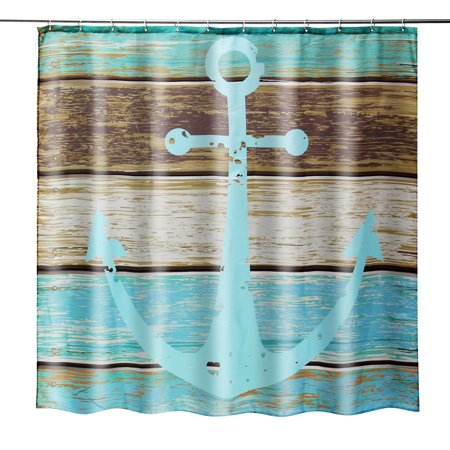 Nautical Anchor Rustic Wood - Shower Curtain - Water, Soap ...