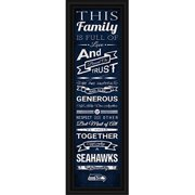 "Seattle Seahawks Family Cheer Print 8""x24"""