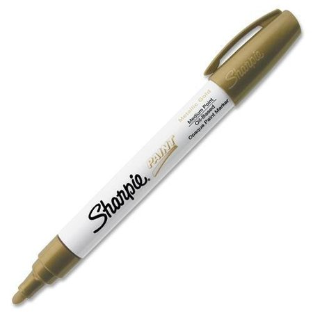 Base Ink (Sharpie Oil Base Medium Paint Marker - Medium Marker Point Type - Gold Ink - 1)