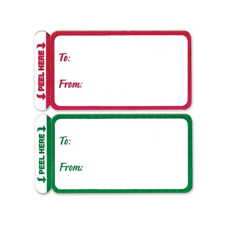 Green Coupon Merchandise Tag (Red & Green Peel and Stick Gift Tag Labels -)