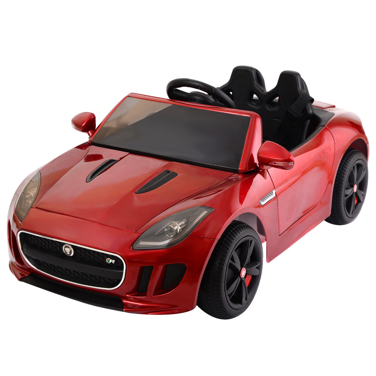 Jaguar F-TYPE 12V Battery Power Kids Ride On Car Licensed MP3 RC Remote Control by Costway