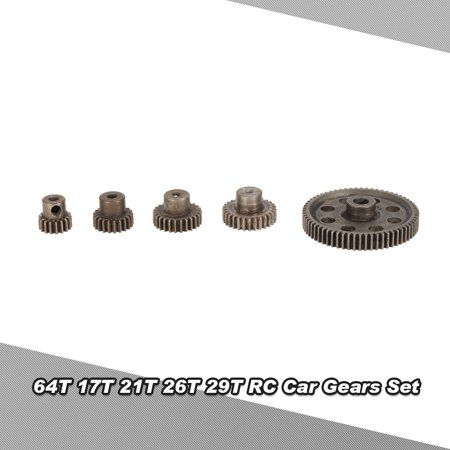 Differential Diff Gear (Diff Differential Main Metal Spur Gear 64T 17T 21T 26T 29T Motor Gear RC Part for HSP 1/10 Monster Truck BRONTOSAURUS 94111 )