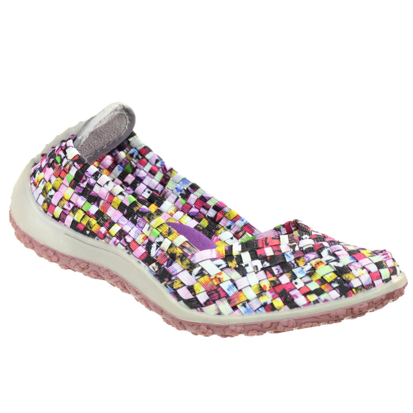 Zee Alexis Spice Womens Woven Slip On Shoes Mosaic Multi 6 M