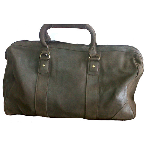 David King 18'' Distressed Leather Carry-On Duffe