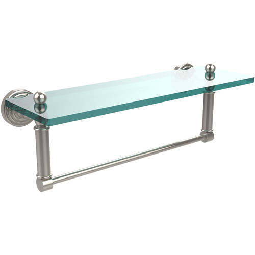 """Waverly Place 16"""" Glass Vanity Shelf with Integrated Towel Bar (Build to Order)"""