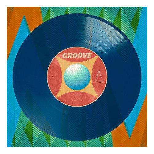 Wheatpaste Art Collective Viva Vinyl - Golf Groove by Wheatpaste House Painting Print on Wrapped Canvas