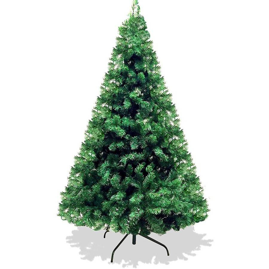 6' Artificial Christmas Pine Tree with Solid Metal Legs, 1000 Tips, Full Tree