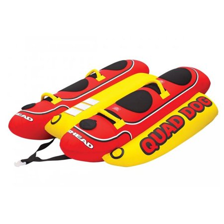 AIRHEAD Hot Dog 4-Rider Towable Inflatable Boat Lake Tube, Up To 4 People | HD-4 ()