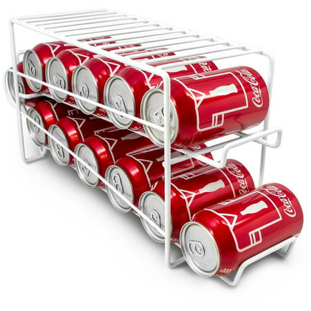 Sorbus Soda Can Beverage Dispenser Rack, Dispenses 12 Standard Size 12-oz Soda Cans and Holds Canned Foods