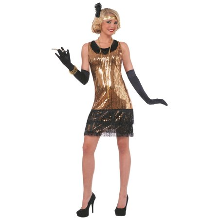 Womens Sequin Ritzy Glitzy Flapper Halloween Costume](Flapper Halloween Costumes Diy)
