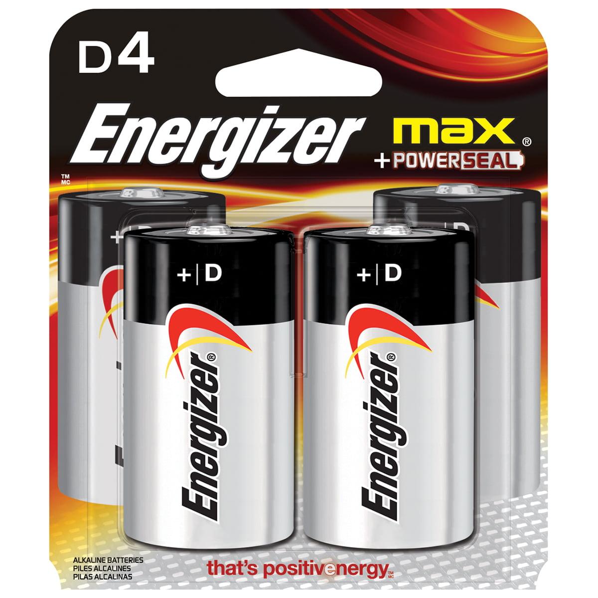 Energizer MAX Alkaline D Batteries, 4-Pack