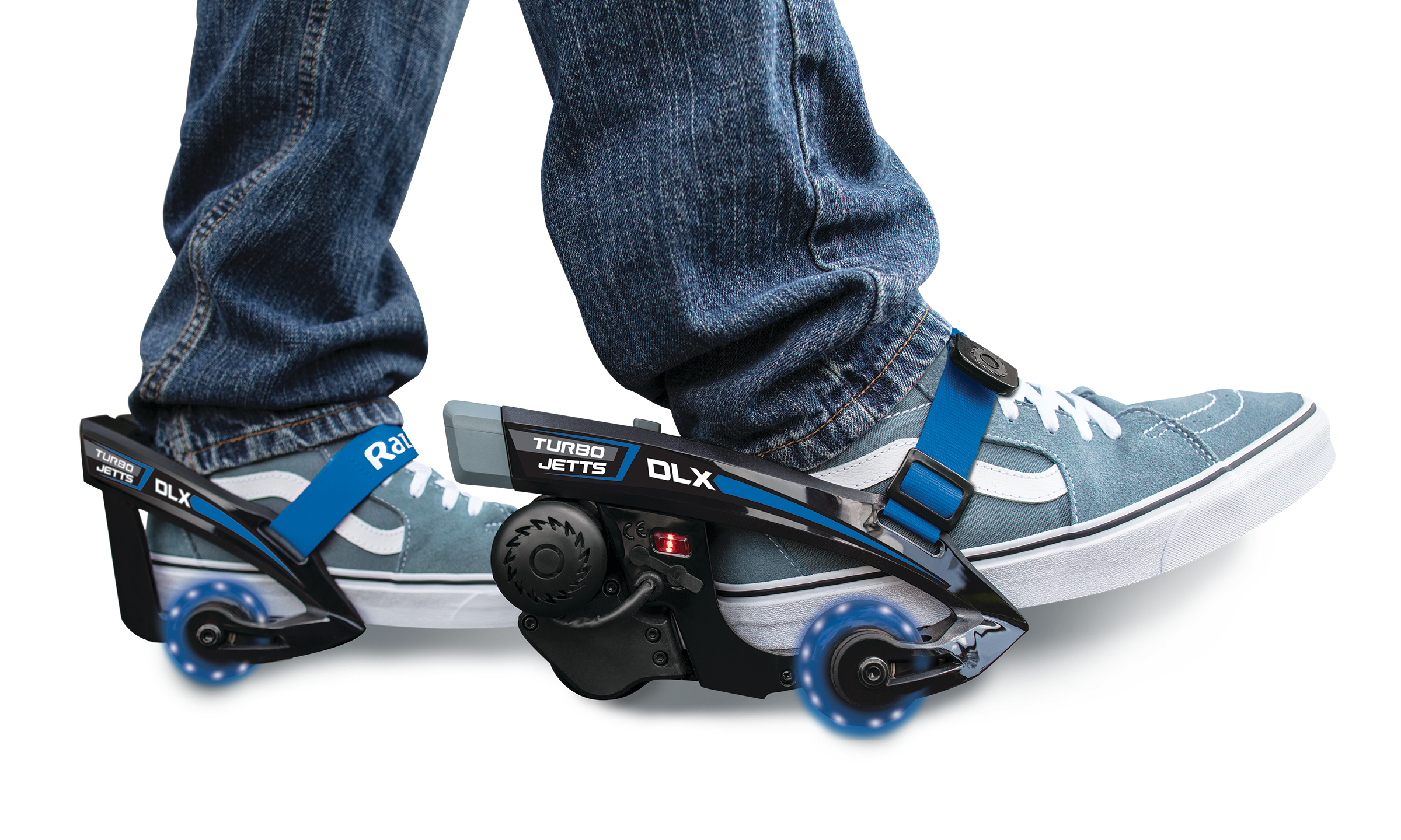 Razor Turbo Jetts Electric Heel Wheels DLX Blue with Lighted Wheels
