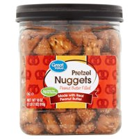 Great Value Peanut Butter Filled Pretzel Nuggets 18 Oz. Canister