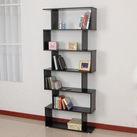 Estink 6 Tier Bookshelf756 Tall Wooden Bookcase Storage Unit Modern Display Shelf
