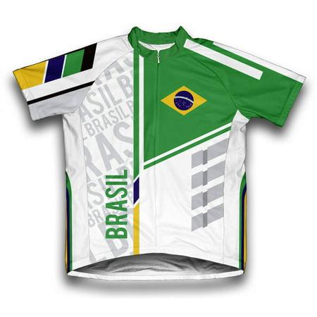 Brasil ScudoPro Short Sleeve Cycling Jersey  for Men - Size XS ()