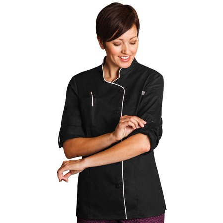 Five Star Chef Apparel Ladies' Long Sleeve Executive Stretch Chef Coat (Chefs Coat)