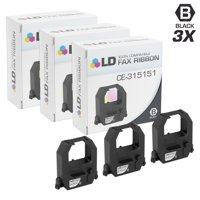 LD Compatible Printer Ribbon Cartridge Replacement for Amano CE-315151 (Black, 3-Pack)