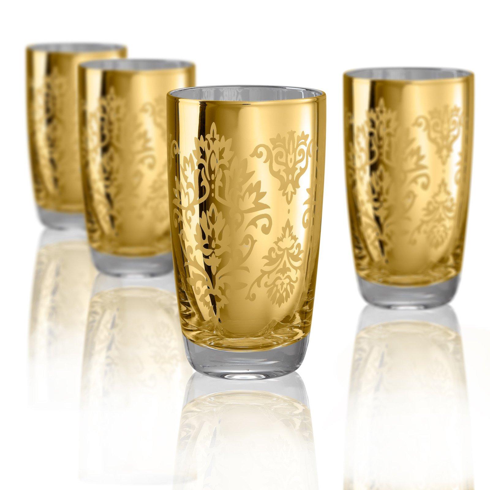 Artland Inc. Silver Brocade HiBall Glasses - Set of 4