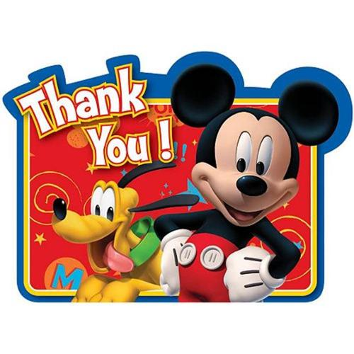 Mickey Mouse Thank You Cards (8 Pack) - Party Supplies