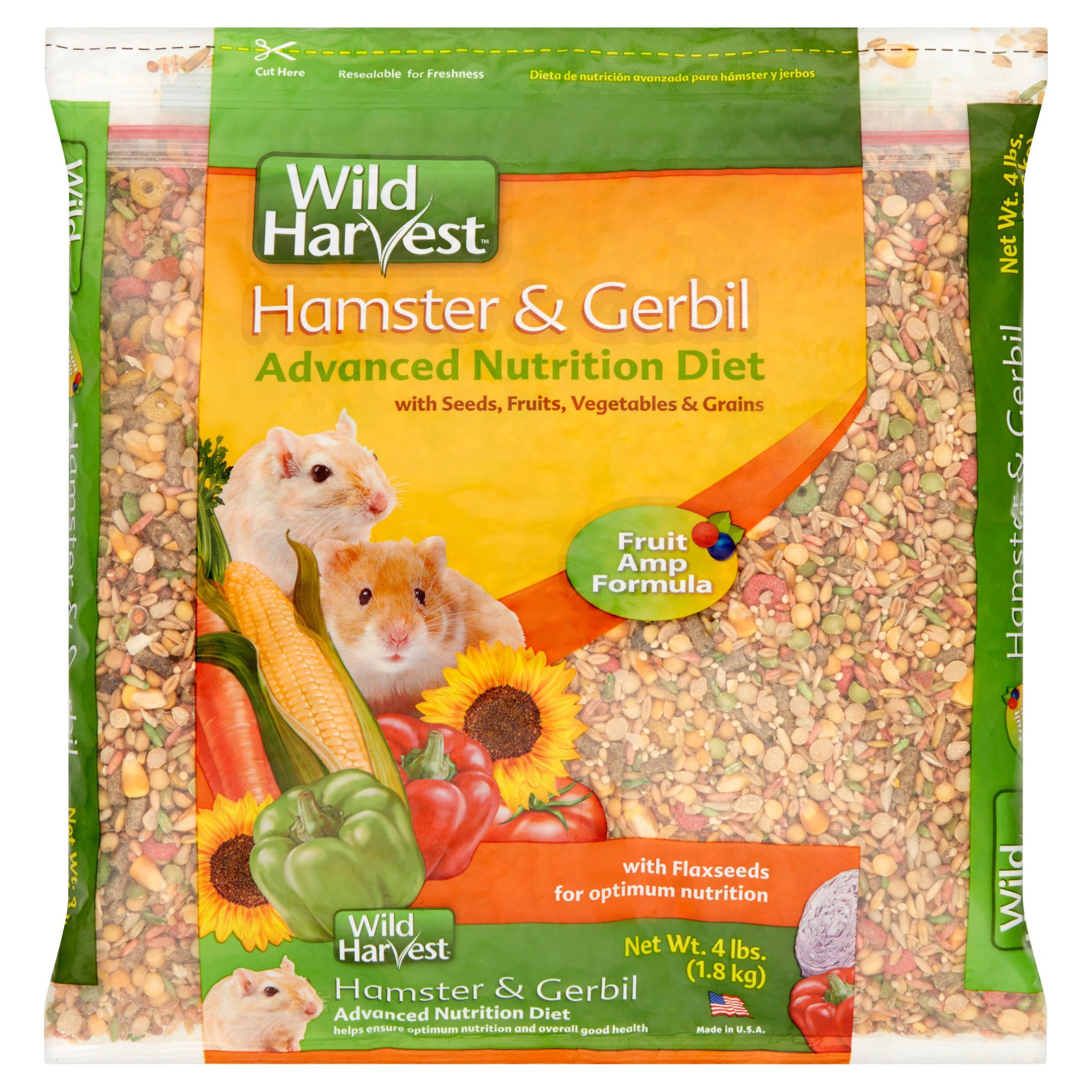 Wild Harvest Hamster and Gerbil Advanced Nutrition Diet, 4 lbs. by Spectrum Brands