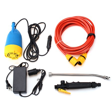 12V 60W High Pressure Car Washer Kit Water Wash Pump Car Campervan Sprayer Suit