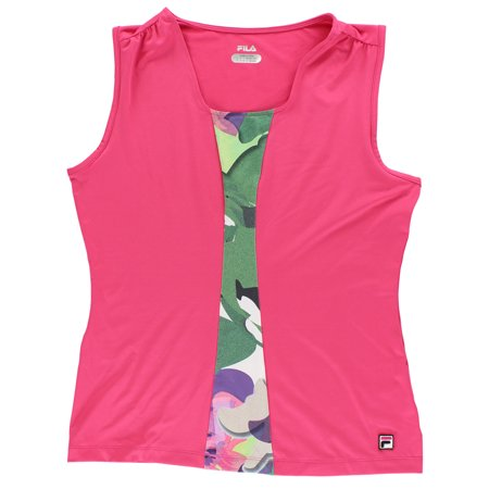 Fila Womens Loose Fit Graphic Running Tank Pink