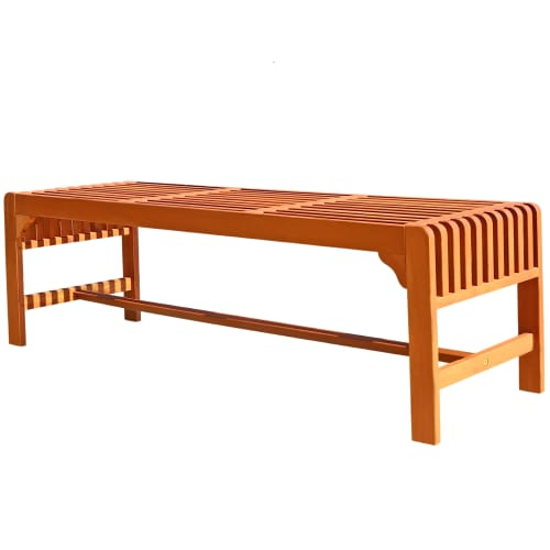 Backless 5-foot Eucalyptus Wood Bench