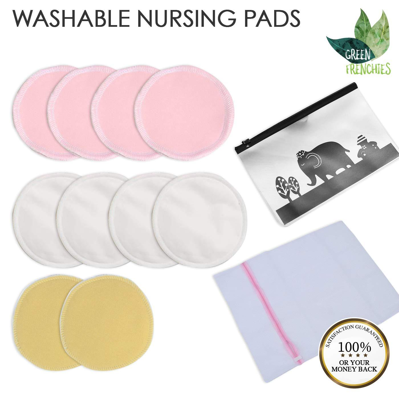 Click here to buy G.F.Nursing Pads Reusable Nursing Pads, Washable, Nursing Pads, 10 Breastfeeding pads, Medium size, 3colors,... by Green Frenchies.