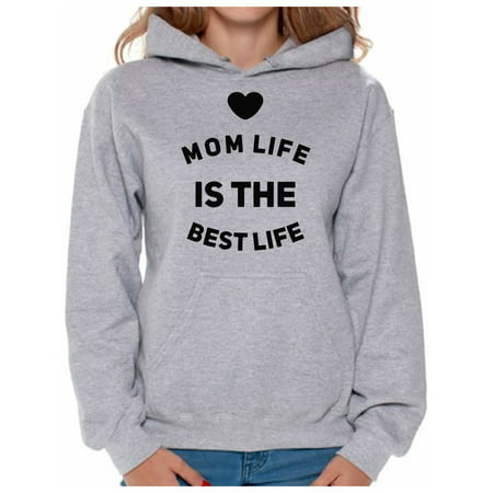 Awkward Styles Women's Mom Life Is The Best Life Graphic Hoodie Tops Cute Mother's Day
