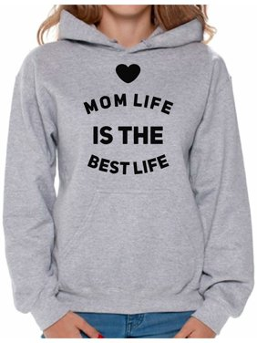 59e501e0a Product Image Awkward Styles Women's Mom Life Is The Best Life Graphic  Hoodie Tops Cute Mother's ...