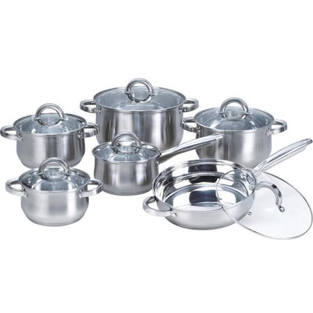 Heim Concept 12-Piece Stainless Steel Cookware Set
