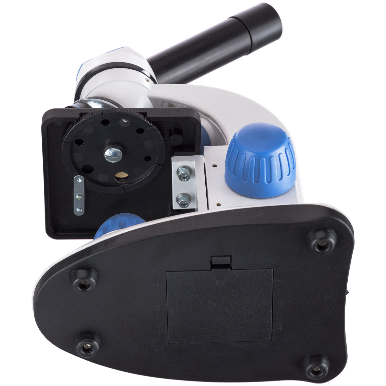 AMSCOPE-Kids M50C-B14-WM 40X-1000X Dual Illumination Microscope with Slide Prep Kit and Book Blue