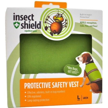 Insect Shield Protective Safety Vest Large, Green