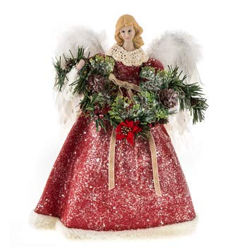 Angel Tree Topper with Garland Christmas Figure Decoration Gift Keepsake