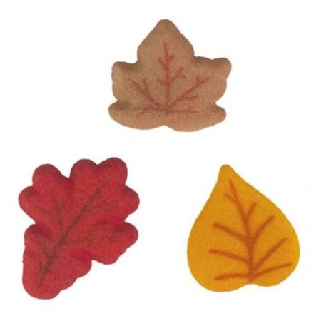 Shimmer Leaves Sugar Decorations Toppers Cupcake Cake Cookies Thanksgiving Favors Party 12 Count - Thanksgiving Party Games