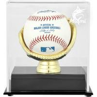 Miami Marlins Gold Glove Single Baseball 2019 Logo Display Case