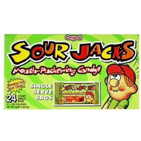 Product Of Sour Jacks, Original Sour Candies -s, Ct 24 (2 Oz) - Sugar Candy / Grab Varieties & Flavors - Sour Jacks