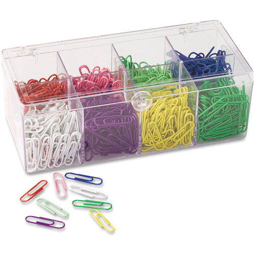 Officemate Plastic Coated Paper Clips, Assorted Colors, 800pk